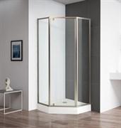 CEZARES ECO-O-P-1-C-Br Душевой уголок пятиугольный двери распашные, стекло 6 мм, устанавливается на левую или правую стороны