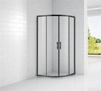 CEZARES ECO-O-R-2-90-C-NERO Душевой уголок полукруглый двери раздвижные, стекло 6 мм, устанавливается на левую или правую стороны