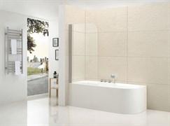 CEZARES ECO-V-1-L Душевые шторки для ванн распашные, стекло 6 мм, левый вариант