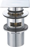 BELBAGNO Донный клапан с системой Клик-клак с переливом, с квадратной крышкой