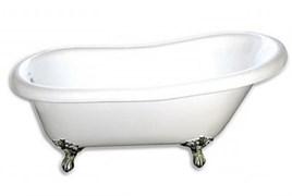GOLDMAN Bristol 170x78 Ванна чугунная одельностоящая, 170x78x50x55, в комплекте ножки хром, сифон в комплекте