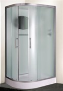 ESBANO CR Душевая кабина, 115х85х210, поддон-15 см, стекла-рифленые, профиль-матовый хром, правая