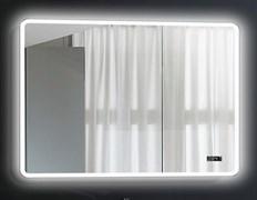 ESBANO Led Зеркало, ШВГ: 120x70х5, LED-подсветка, антизапотевание, часы