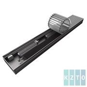 Конвектор с вентиляторами водяной внутрипольный KZTO Бриз В с решеткой L-2200 мм