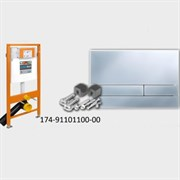 174-91101100-00 Jomo Tech Набор: система инсталляции, крепление, клавиша смыва EXCLUSIVE 2.0 матовый хром