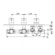 RU002X00Q AquaElite встроенная часть термостатического смесителя на 2 потребителя