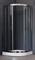 ROYAL BATH RB-L-3001 100x100 Душевое ограждение, стекло 6 мм прозрачное, профиль нержавеющая сталь зеркальный глянец, дверь раздвижная - фото 114009
